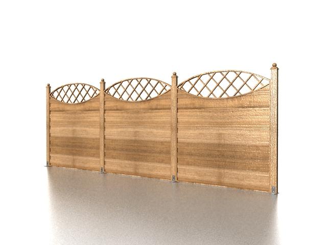 Garden fence panels 3d rendering
