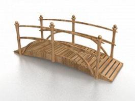 Wooden landscape bridge 3d preview