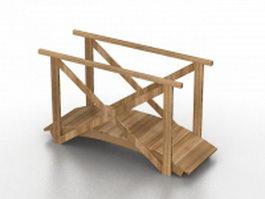 Miniature garden bridge 3d preview