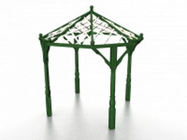 Small wood pergola 3d preview
