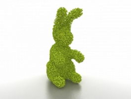 Topiary rabbit 3d preview