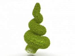 Evergreen topiary tree 3d preview