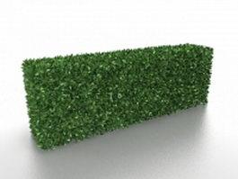 Box hedge plants 3d model preview