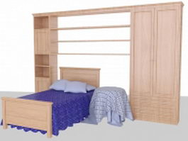 Teenage bedroom sets 3d preview