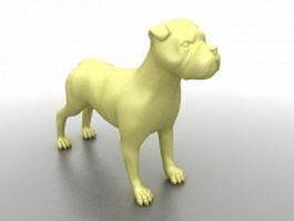 Dog statue for garden 3d model preview