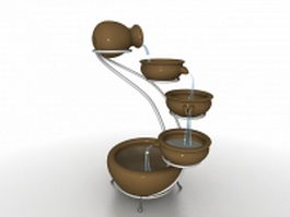 Mini indoor water fountain 3d preview