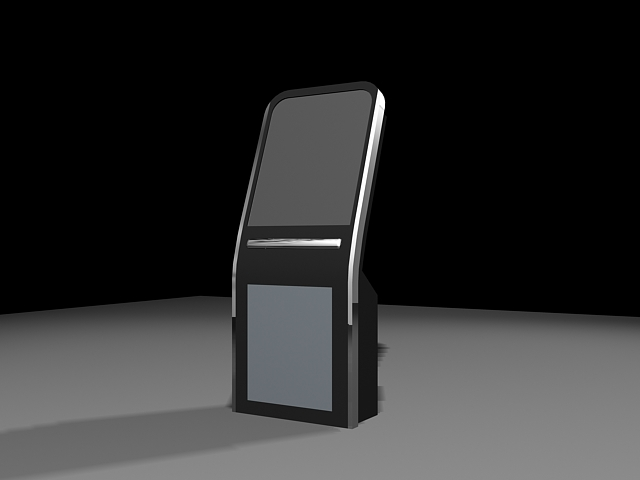 Kiosk and self-service terminal 3d rendering