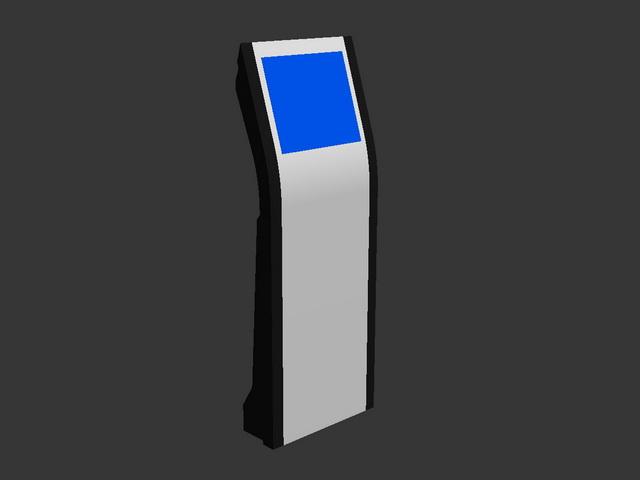 Self service kiosk 3d rendering