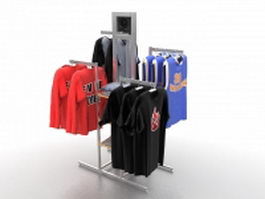 Clothing store display fixtures 3d preview