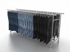 Trousers display rack 3d preview