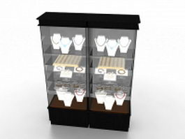 Jewelry display cabinet 3d preview