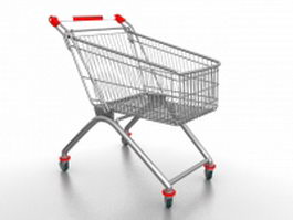 Shopping cart trolley 3d preview