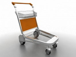 Supermarket trolley 3d preview