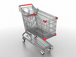 Supermarket shopping cart 3d preview