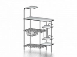 Side table with shelf 3d preview
