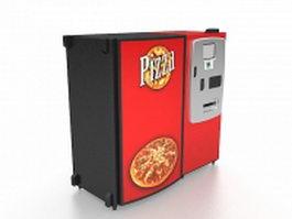 Pizza vending machine 3d model preview