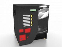 Beverage vending machine 3d model preview