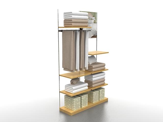 Textile display racks 3d rendering