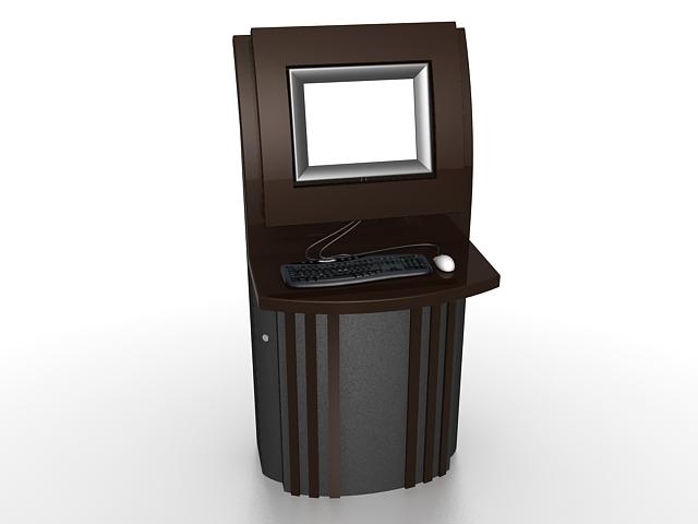 Book store self service kiosk 3d rendering