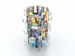 Magazine rack display stand 3d preview