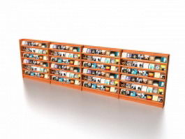 Supermarket CD display racks 3d preview