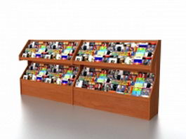 Book store magazine racks 3d preview