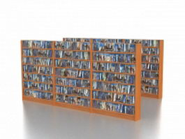 CD DVD storage racks 3d model preview