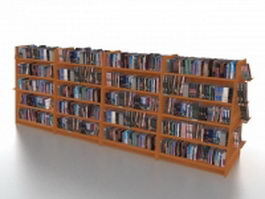 Bookstore shelving and displays 3d preview