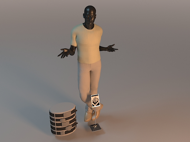 Male fashion mannequin 3d rendering
