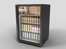 Countertop fridge display 3d preview