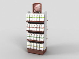 Coffee beverages display rack 3d preview