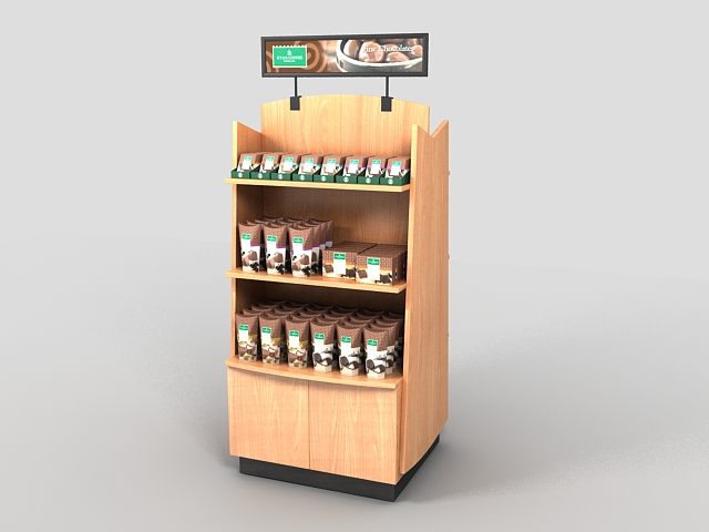 Chocolate display stand 3d rendering