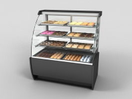 Bakery display case 3d model preview