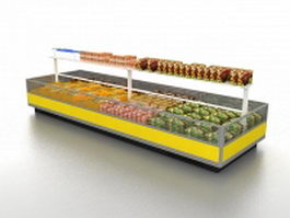 Refrigerated food display cases 3d preview
