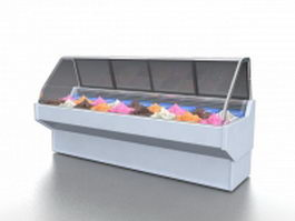 Ice cream display cooler 3d preview