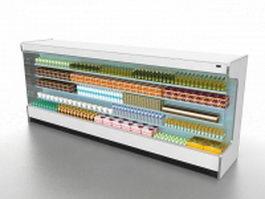 Supermarket freezer display 3d model preview