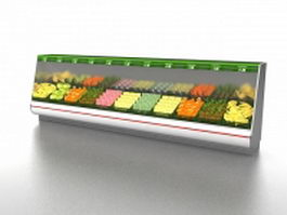Fresh vegetable cooler display 3d preview