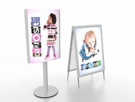Advertising display stands 3d preview