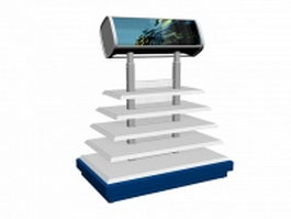 Tiered display stand 3d model preview