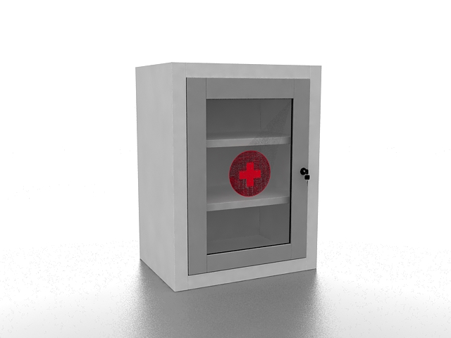First aid cabinet 3d rendering
