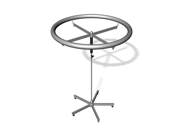 Round rotating clothes rack 3d rendering