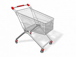 Supermarket cart 3d preview