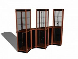Glass display case 3d model preview