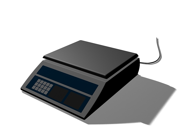 Electronic scale 3d rendering