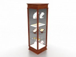 Jewelry tower display case 3d preview