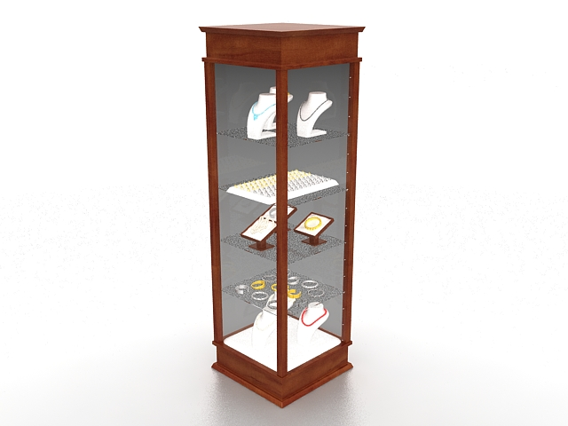 Jewelry tower display case 3d rendering