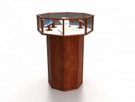 Jewelry store display case 3d model preview