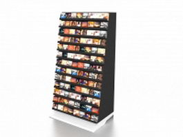DVD display rack 3d preview