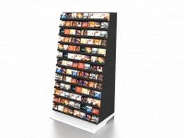DVD display rack 3d preview