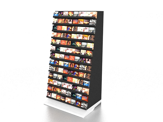 DVD display rack 3d rendering